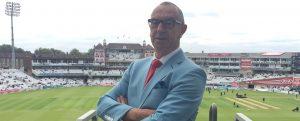 If ever a man was born to ham it up in a pale blue suit...