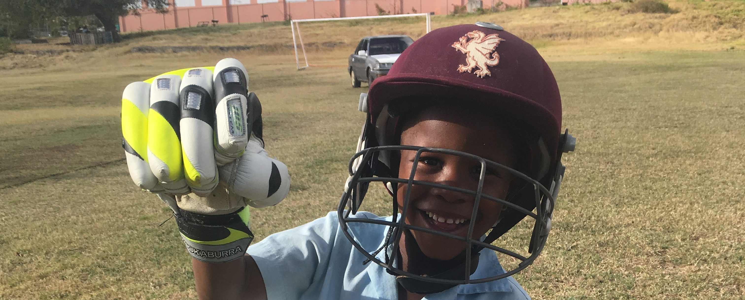 Urlings CC Youngster Tries His Equipment On For The First Time