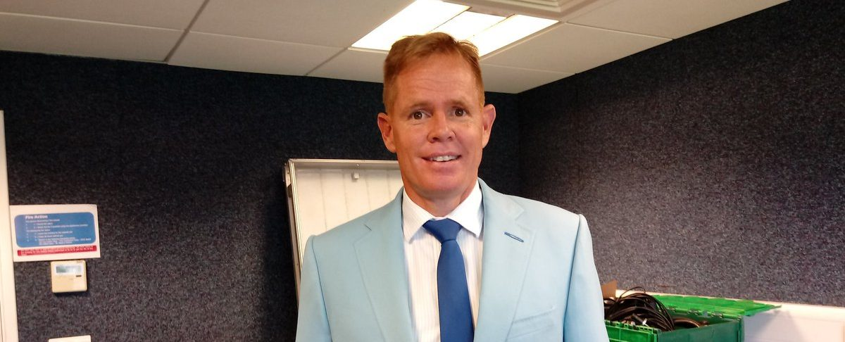 Sky Commentator Shaun Pollock Looking Sharp In His Cricket United Blazer, Supplied By McCann Bespoke